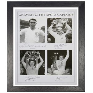Greavsie & The Spurs Captains Framed Signed Photo