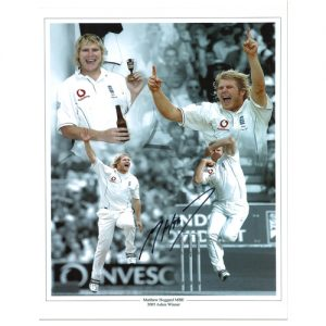 Matthew Hoggard Signed Photo Montage