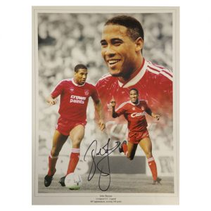 John Barnes Framed Signed Liverpool Photo Montage