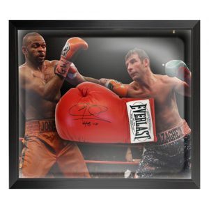 Joe Calzaghe Dome Framed Signed Boxing Glove
