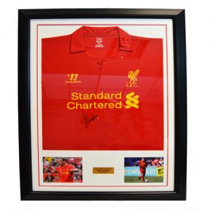 Jamie Carragher Framed Signed Liverpool Shirt