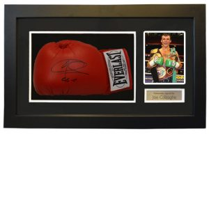 Joe Calzaghe Framed Signed Glove