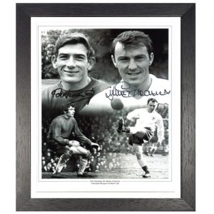 Pat Jennings & Jimmy Greaves Framed Signed Photo Montage