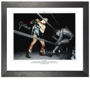 "Jake Lamotta Framed Signed Photo - ""Raging Bull"""