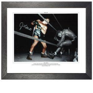 """Jake Lamotta Framed Signed Photo - """"Raging Bull"""""""