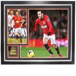 Juan Mata Framed Signed Photo