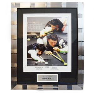 Jimmy White Framed Signed Photo Montage
