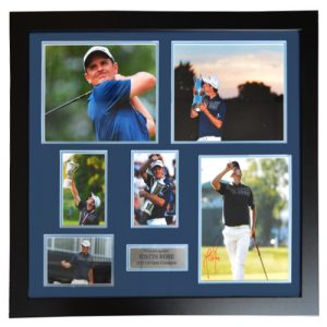 Justin Rose Framed Signed Presentation
