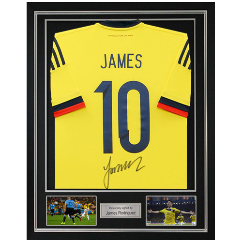 check out 2c42c 51858 James Rodriguez Framed Signed Colombia Shirt