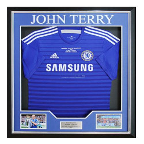 John Terry Framed Signed Shirt