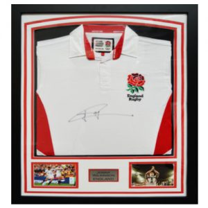 Jonny Wilkinson Framed Signed England Shirt