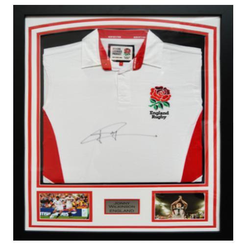 Jonny Wilkinson Framed Signed England Shirt