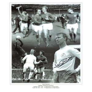 Jack Charlton Signed Photo Montage