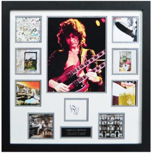 Jimmy Page Framed Signed Display