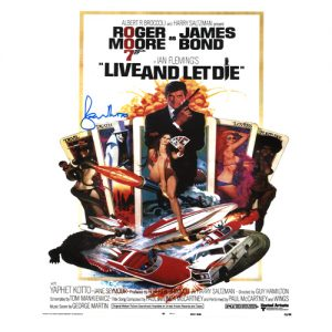 "Roger Moore Signed James Bond Poster – ""Live and Let Die"""