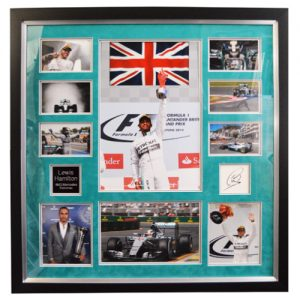 Lewis Hamilton Framed Signed Display