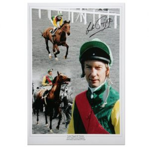 Lester Piggot Signed Photo Montage