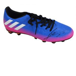 Lionel Messi Signed Football Boot (Purple Adidas 16.3)