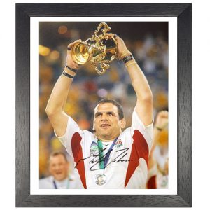 Martin Johnson Framed Signed Photo