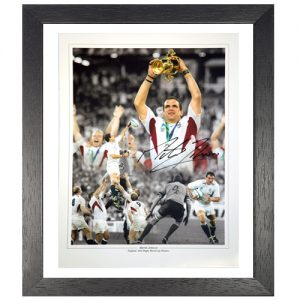 Martin Johnson Framed Signed Photo Montage