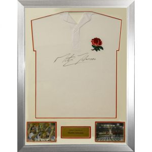 MArtin Johnson Framed Signed England Shirt