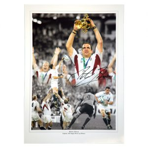 Martin Johnson Signed Photo Montage
