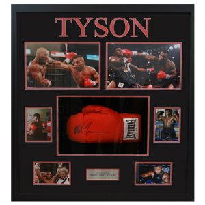 Mike Tyson Large Framed Signed Boxing Glove Display
