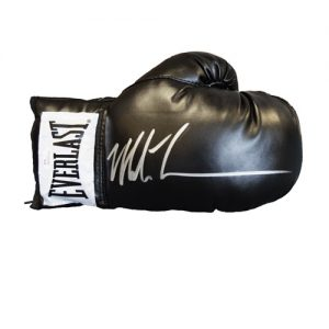 Mike Tyson Signed Glove (Black Everlast)
