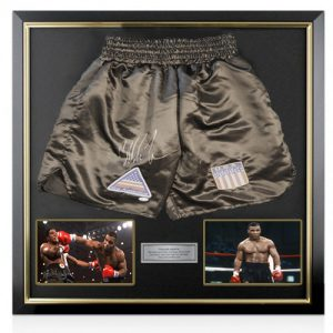 Mike Tyson Deluxe Framed Signed Boxing Shorts