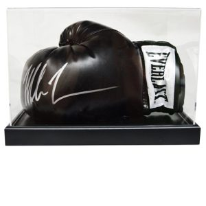 Mike Tyson Signed Glove in an Acrylic Case (Black Everlast)