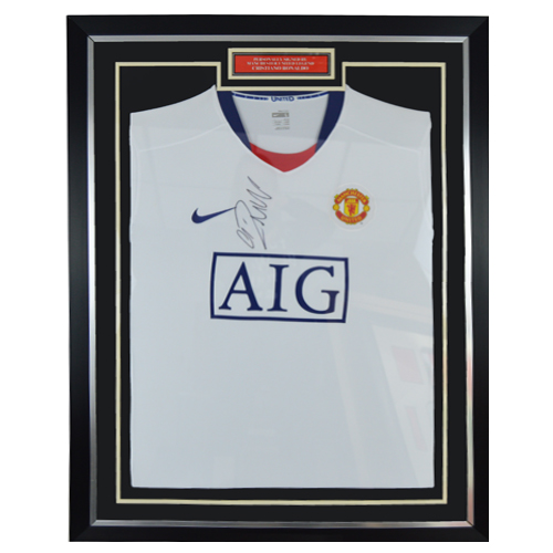 competitive price ad4b6 a3701 Cristiano Ronaldo Framed Signed Manchester United Shirt
