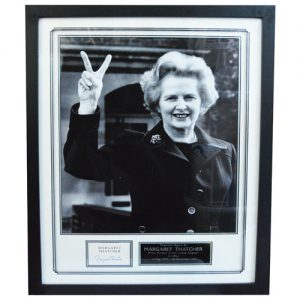 Margaret Thatcher Framed Signed Display