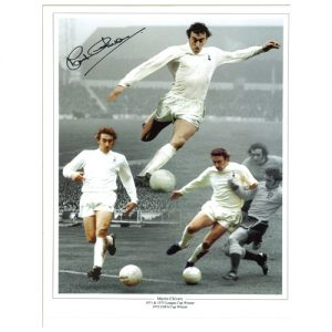 Martin Chivers Signed Photo Montage