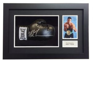 Mike Tyson Framed Glove (Black Everlast)