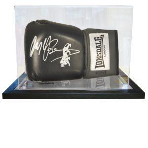 Nigel Benn Signed Glove in an Acrylic Case (Black Lonsdale)