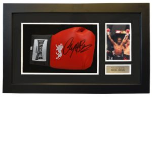 Nigel Benn Framed Signed Glove