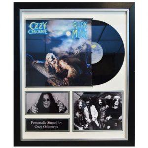Ozzy Osbourne Framed Signed Display