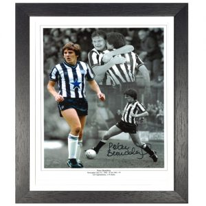 Peter Beardsley Framed Signed Newcastle Photo Montage
