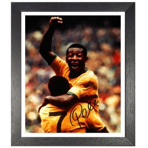 Pele Framed Signed Photo