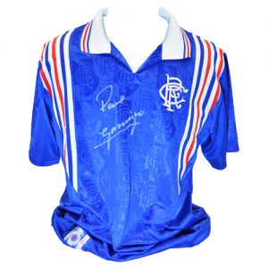 Paul Gascoigne Signed Rangers F.C Shirt