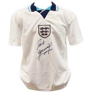 Paul Gascoigne Signed England Shirt (Euro 1996)