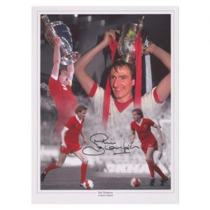 Phil Thompson Signed Liverpool Photo Montage