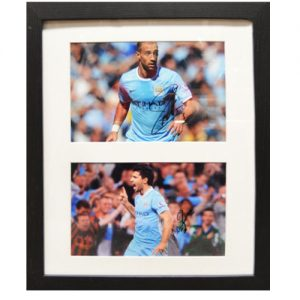 Sergio Aguero & Pablo Zabaleta Framed Signed Photos