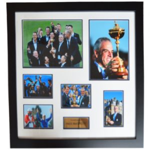Paul McGinley Framed Signed Presentation