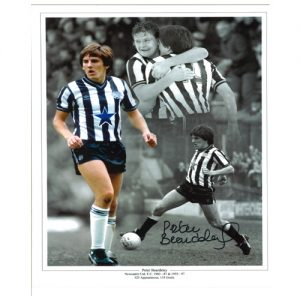 Peter Beardsley signed Newcastle photo montage