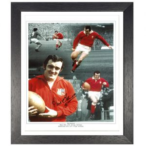 Phil Bennett Framed Signed Photo Montage