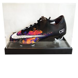 Cristiano Ronaldo Signed Football Boot in an Acrylic Case