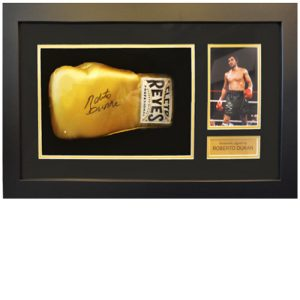 Roberto Duran Framed Signed Glove