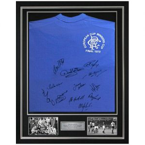 Rangers Deluxe Framed 1972 Shirt Signed by 12