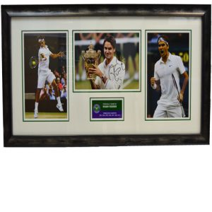 Roger Federer Framed Signed Display
